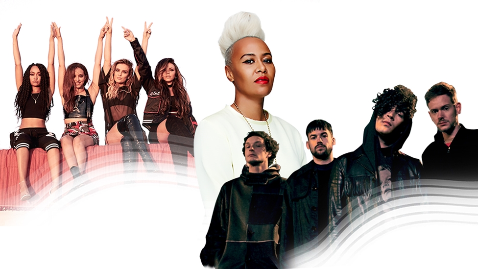 Little Mix, Emeli Sande and The 1975.