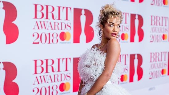 Rita Ora on The BRITs 2018 Red Carpet