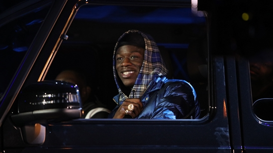 J Hus on stage at The BRITs 2018 Nominations Show