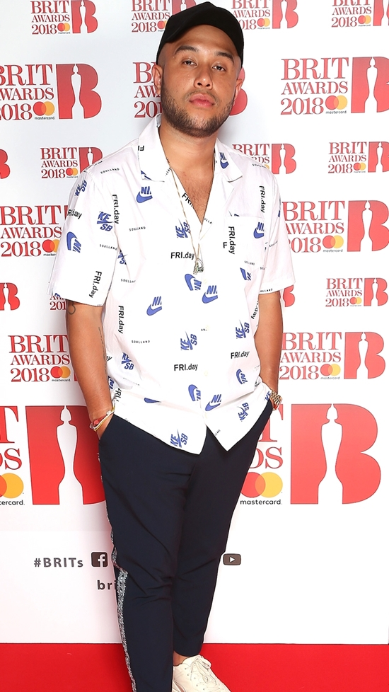 Jax Jones on The BRITs2018 Nominations Show Red Carpet.