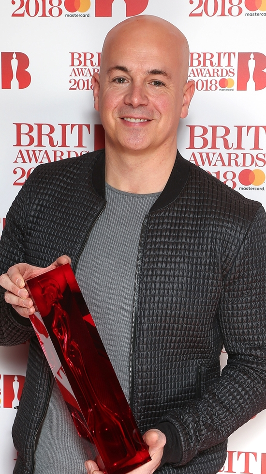 Steve Mac on The BRITs2018 Nominations Show Red Carpet.