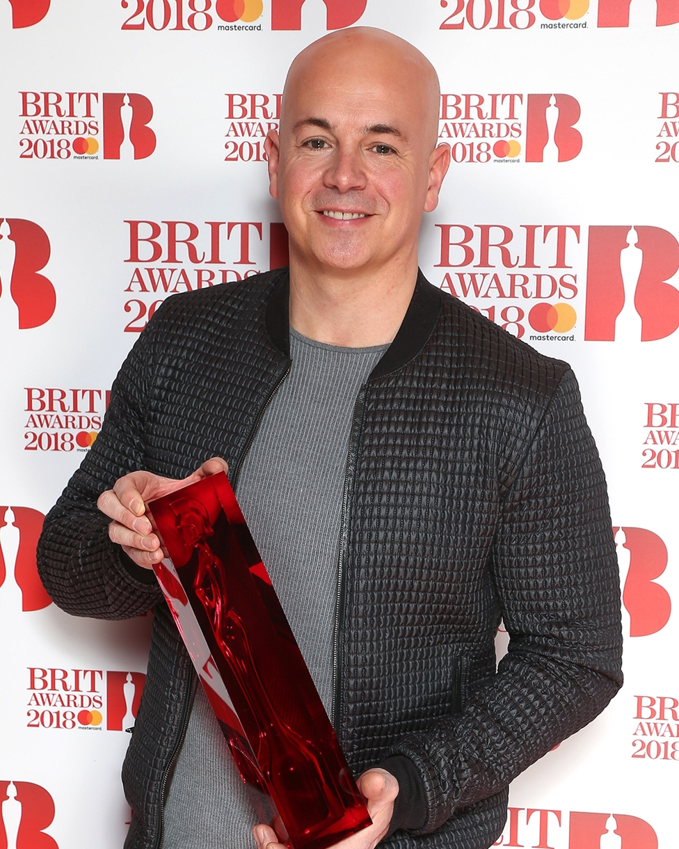 Steve Mac on The BRITs 2018 Nominations Show Red Carpet.