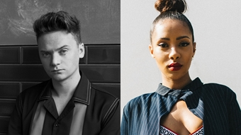 Conor Maynard and Yasmin Evans