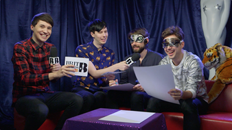 Dan and Phil make Years & Years draw with their Eyes Shut