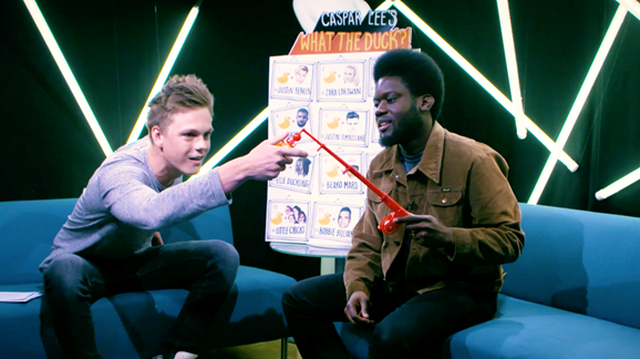 Caspar Lee and Michael Kiwanuka.