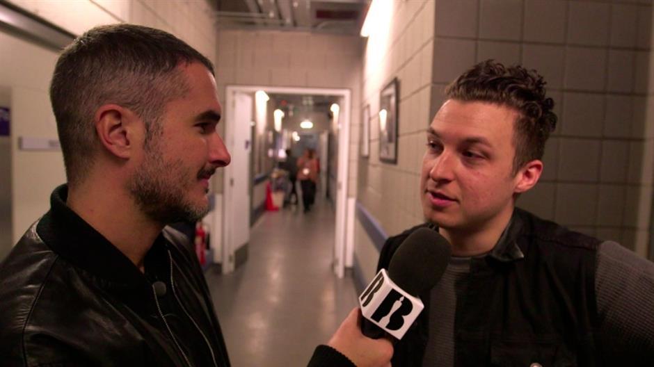 Zane backstage with Arctic Monkeys