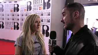 Zane backstage with Ellie Goulding