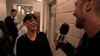 Zane backstage with Lily Allen