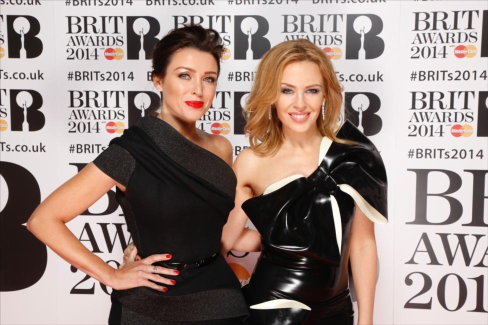 Kylie & Danni Mingoue Red Carpet | BRITs 2014