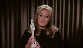 Adele accepts award for Best British Single at 2013 awards