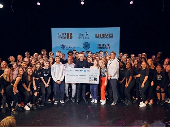 £250,000 raised through The BRIT Trust