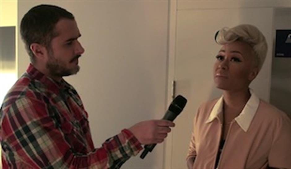 Zane Lowe backstage with Emeli Sande