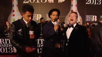 On the Red Carpet: Rizzle Kicks talks to James Corden