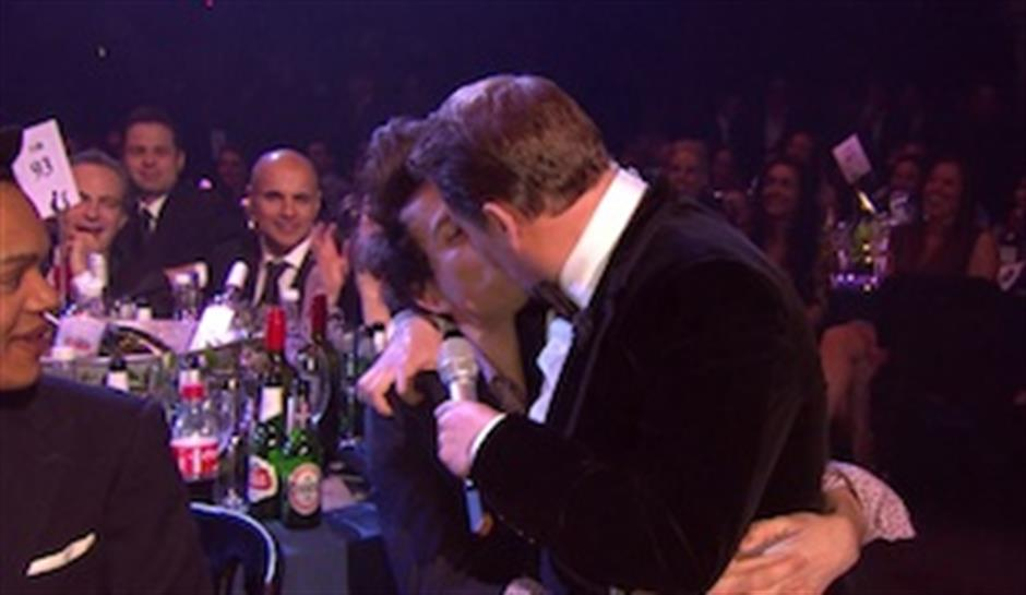 James Corden and Nick Grimshaw share an intimate moment