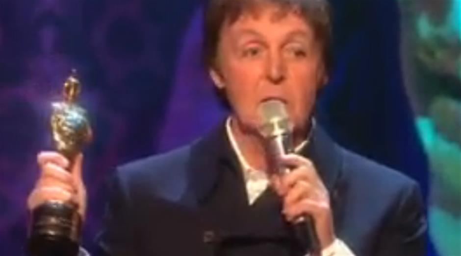 2008 - Outstanding Contribution - Sir Paul McCartney