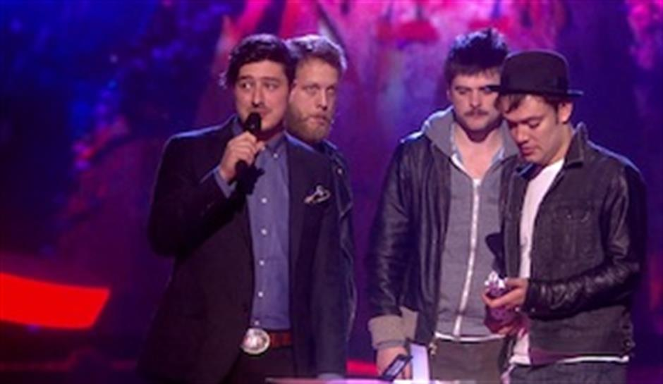 Mumford and Sons accept award for British Group