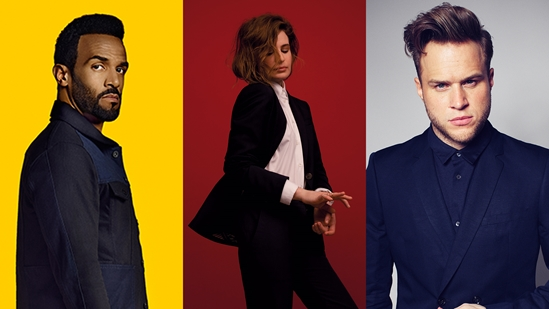 Craig David, Christine and The Queens and Olly Murs