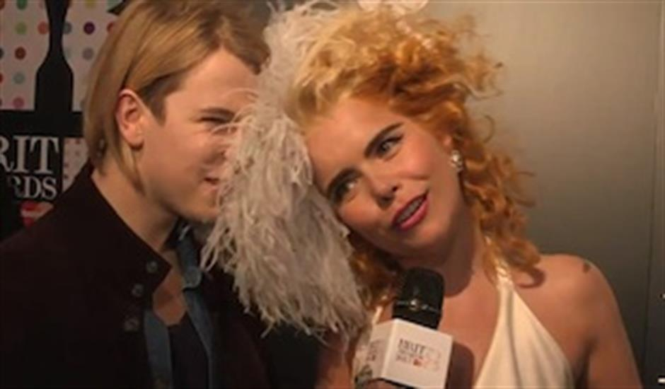 From the Red Carpet: Paloma Faith & Tom Odell at BRITs 2013 Launch