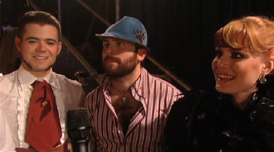 2005 - Chris Evans backstage with Scissor Sisters