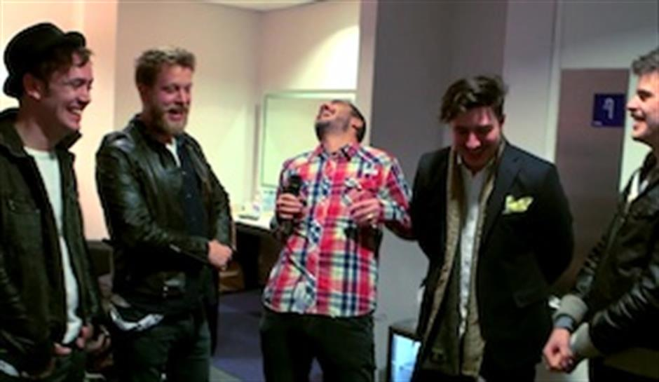 Zane Lowe backstage with Mumford & Sons
